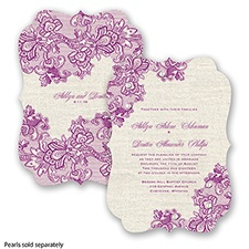 Lace Melody - Sangria - Invitation