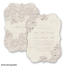 Lace Melody - Biscotti - Invitation