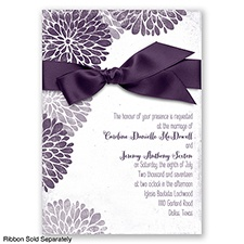 Burst of Colorful Love - Plum - Invitation