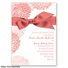 Burst of Colorful Love - Coral Reef - Invitation