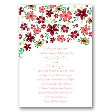 Freshly Floral - Coral Reef - Invitation