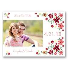 Freshly Floral - Coral Reef - Photo Save the Date Postcard