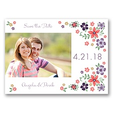 Freshly Floral - Wisteria - Photo Save the Date Postcard