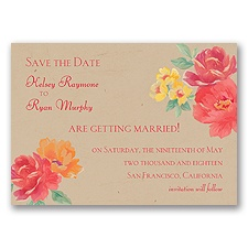Fleur de Lovely - Poppy - Save the Date Magnet