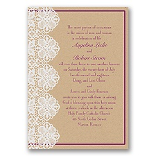 Lovable Lace - Sangria - Invitation
