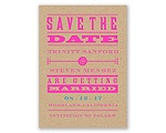 Bold Love - Save the Date Card