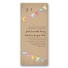 Rustic Bunting - Invitation