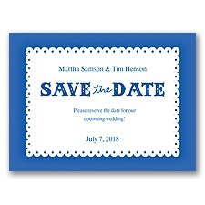 Scalloped Lace - Horizon - Save the Date