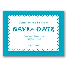 Scalloped Lace - Malibu - Save the Date