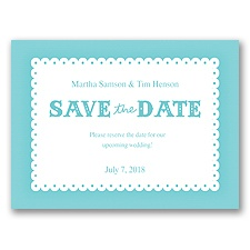 Scalloped Lace - Pool - Save the Date