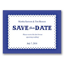 Scalloped Lace - Regency - Save the Date