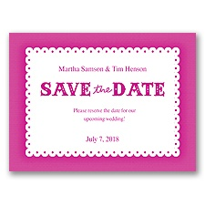 Scalloped Lace - Begonia - Save the Date