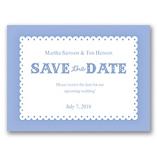 Scalloped Lace - Bluebird - Save the Date