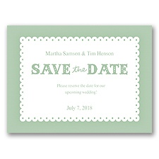 Scalloped Lace - Meadow - Save the Date