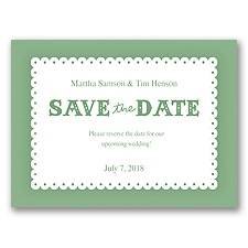 Scalloped Lace - Clover - Save the Date