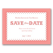 Scalloped Lace - Coral Reef - Save the Date