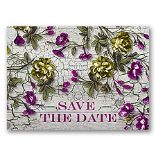 A Romantic Occasion - Begonia - Save the Date Postcard