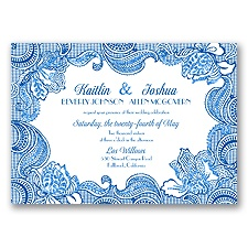 Sparkling Lace Glitter - Horizon - Invitation
