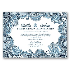 Sparkling Lace Glitter - Peacock - Invitation