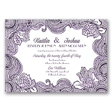 Sparkling Lace Glitter - Plum - Invitation