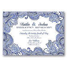 Sparkling Lace Glitter - Regency - Invitation