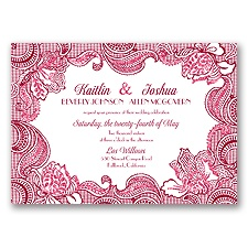 Sparkling Lace Glitter - Apple - Invitation