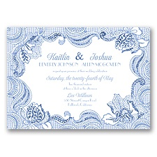 Sparkling Lace Glitter - Bluebird - Invitation