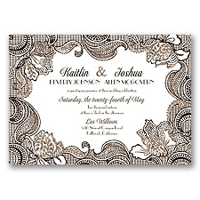 Sparkling Lace Glitter - Chocolate - Invitation