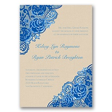 Diamond Lace Roses Glitter - Horizon - Invitation