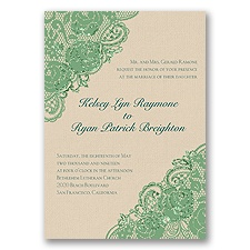Diamond Lace Roses Glitter - Clover - Invitation