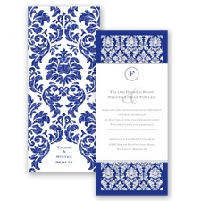 Damask Dazzle Glitter - Regency - Invitation