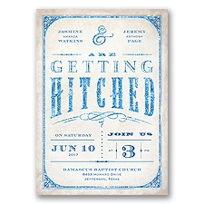 Getting Hitched With Style Glitter - Horizon - Invitation