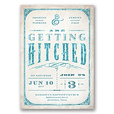 Getting Hitched With Style Glitter - Oasis - Invitation