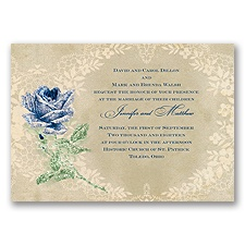 Radiant Rose Glitter- Marine - Invitation