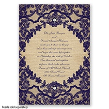 Honeymoon Lace - Lapis - Invitation