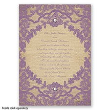 Honeymoon Lace - Wisteria - Invitation