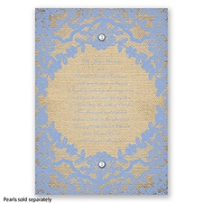 Honeymoon Lace - Bluebird - Invitation