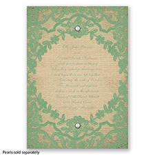 Honeymoon Lace - Clover - Invitation
