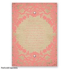 Honeymoon Lace - Coral Reef - Invitation