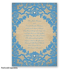 Honeymoon Lace - Cornflower - Invitation