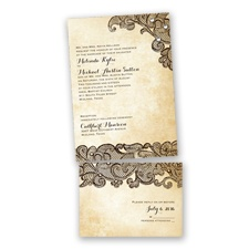 Lacy Look - Chocolate - Value Invitation Set