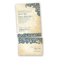 Lacy Look - Peacock - Value Invitation Set
