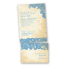 Lacy Look - Cornflower - Value Invitation Set