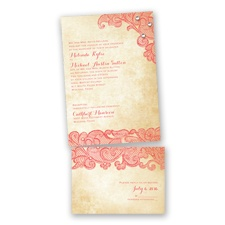 Lacy Look - Guava - Value Invitation Set