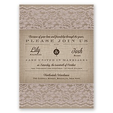 Rustic Lace - Biscotti - Invitation