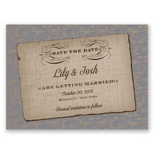 Rustic Lace - Mercury - Save the Date