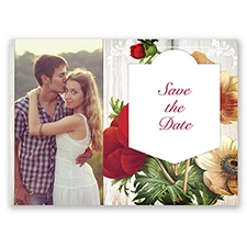 Posie Profusion - Apple - Save the Date Postcard