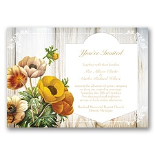 Posie Profusion - Golden - Invitation