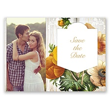 Posie Profusion - Golden - Save the Date Postcard