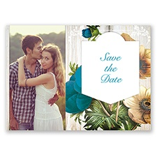 Posie Profusion - Malibu - Save the Date Postcard